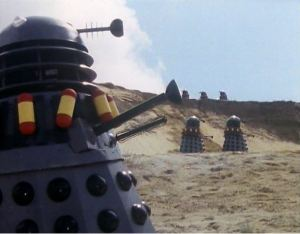 One set of Daleks is going in the wrong direction. Maybe they decided they didn't want to be blown up?